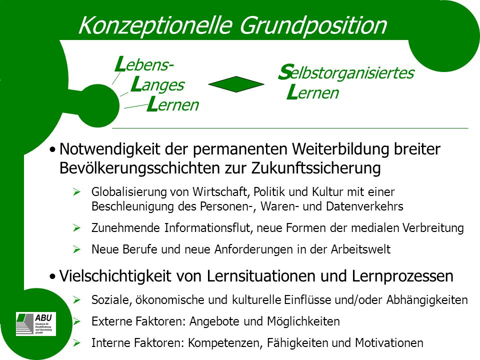 Konzeptionelle Grundposition