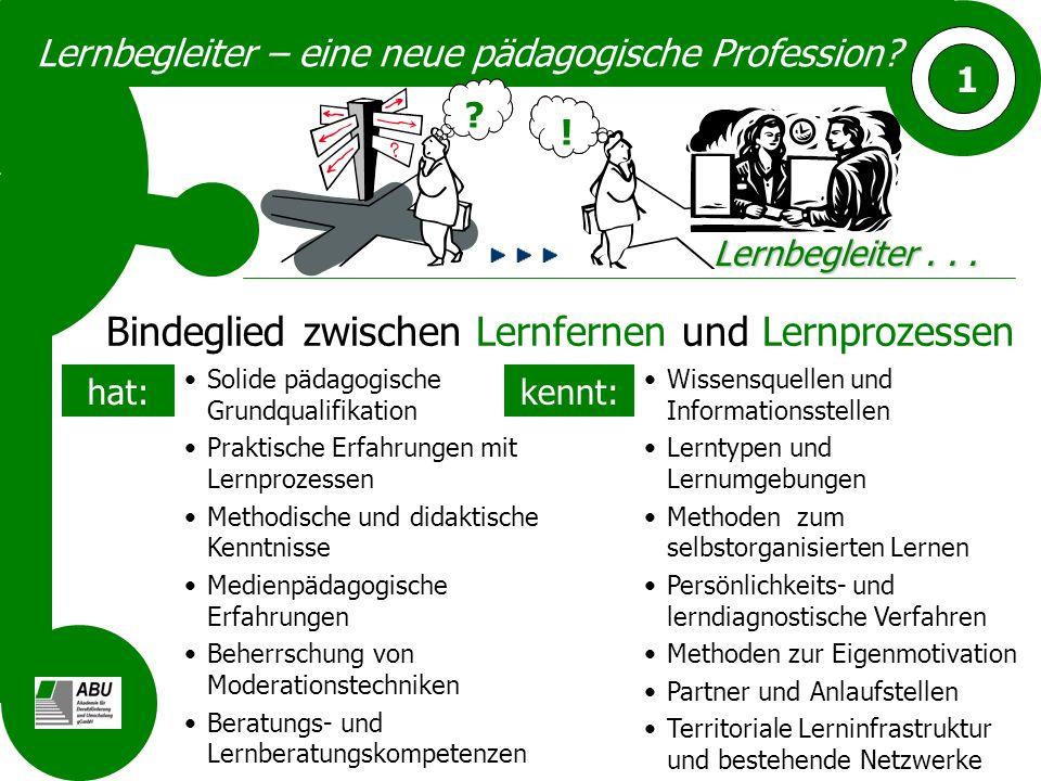 Lernbegleiter – eine neue pädagogische Profession