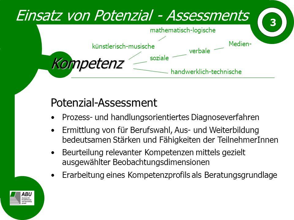 Einsatz von Potenzial - Assessments