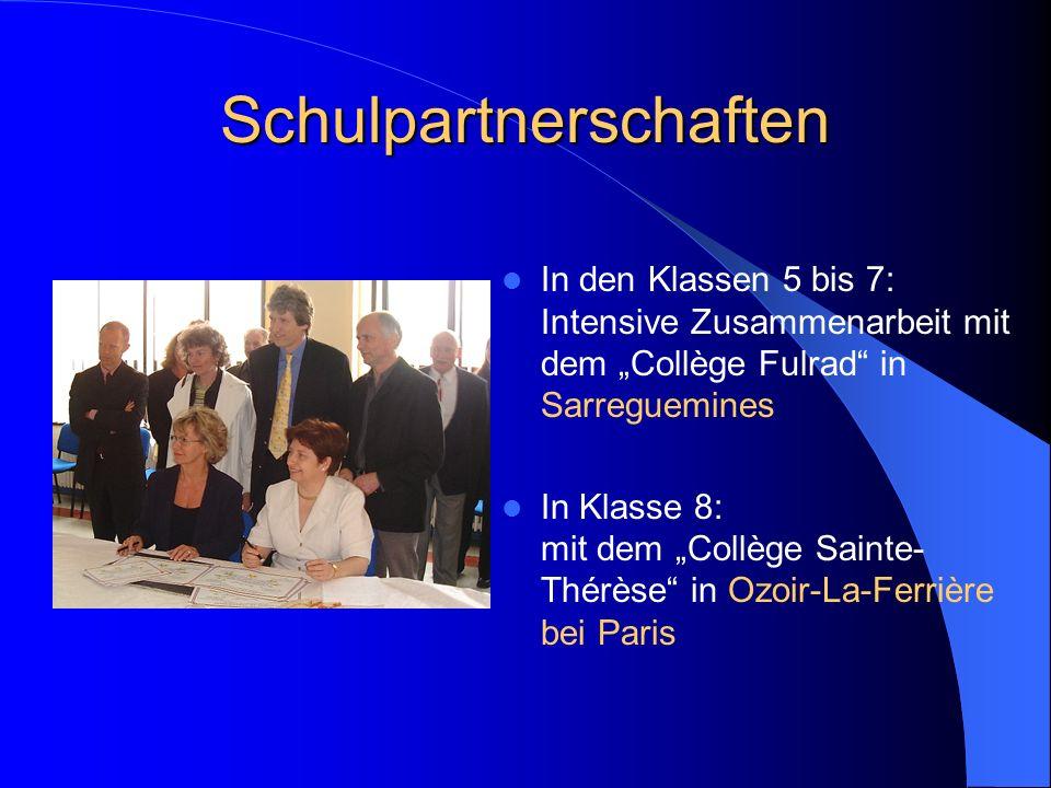 Schulpartnerschaften