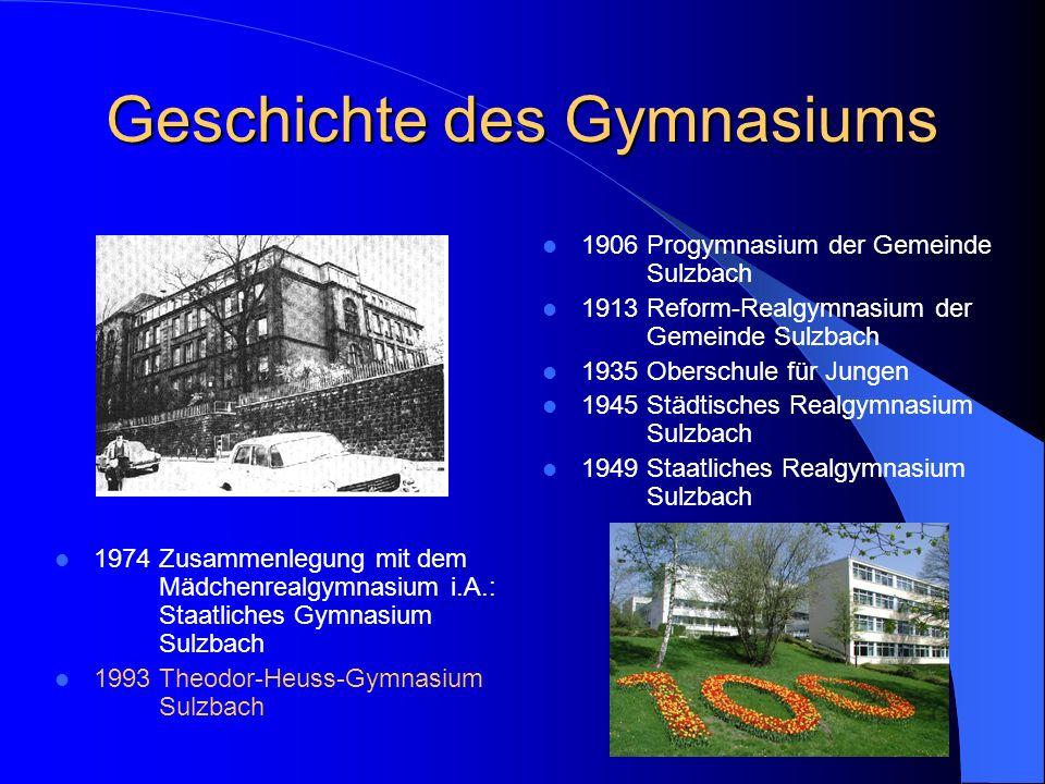 Geschichte des Gymnasiums