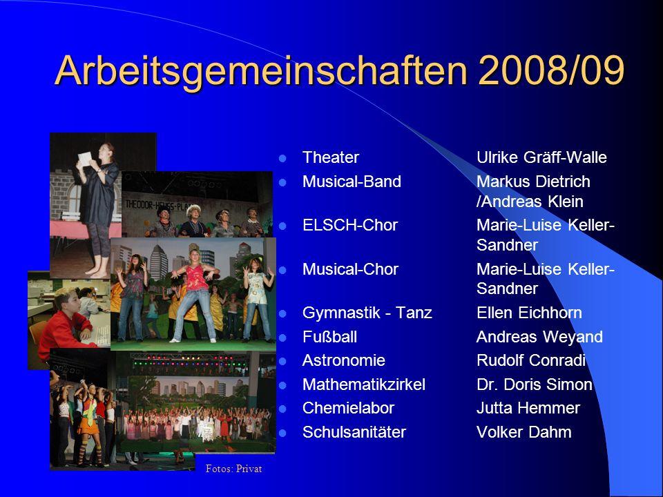 Arbeitsgemeinschaften 2008/09
