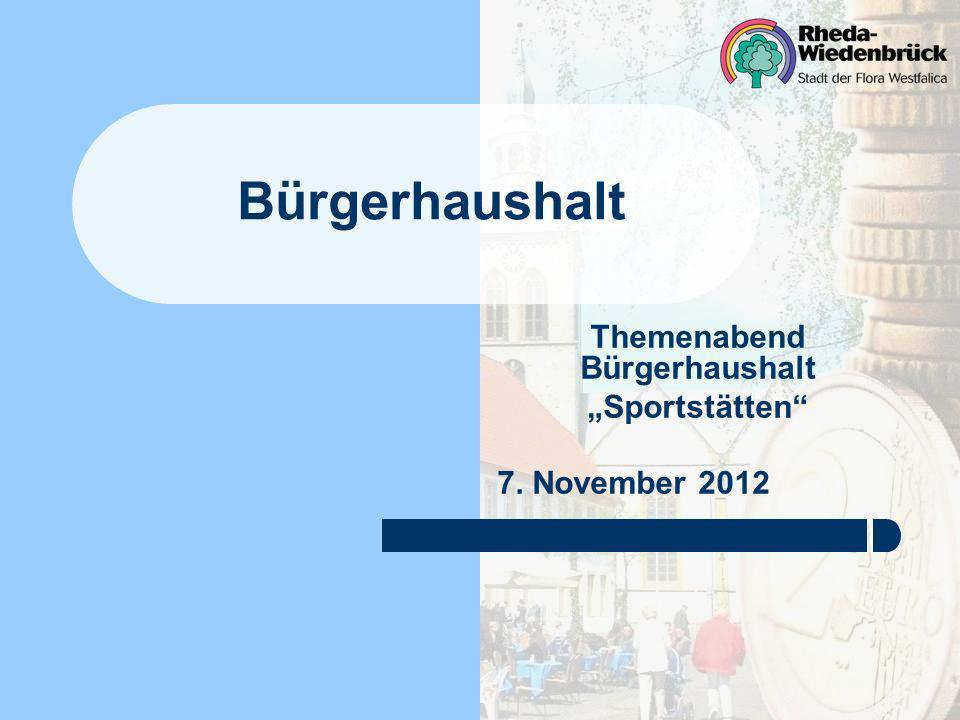 "Themenabend Bürgerhaushalt ""Sportstätten 7. November 2012"