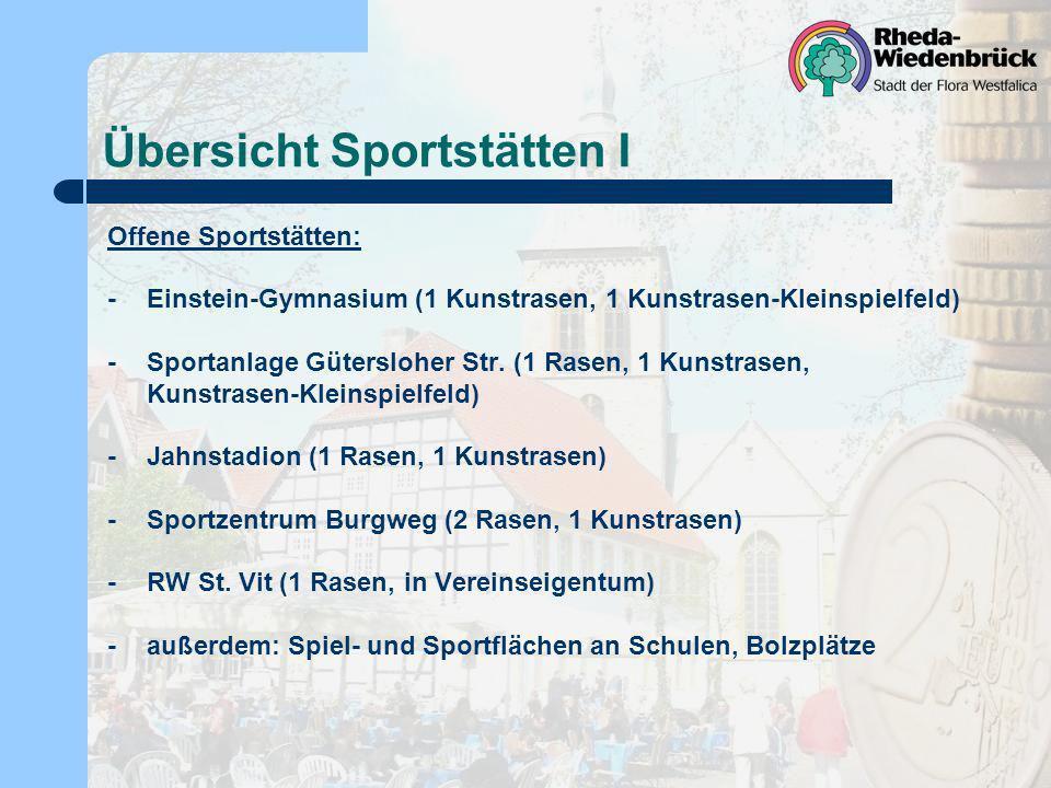 Übersicht Sportstätten I