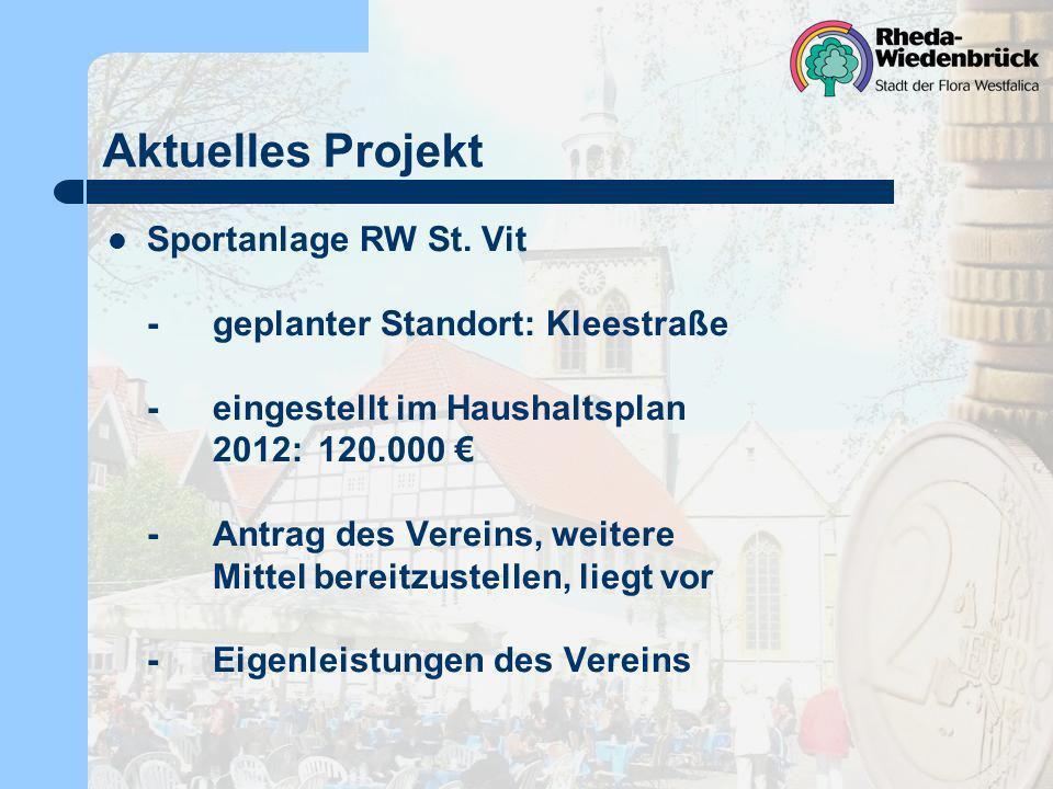 Aktuelles Projekt Sportanlage RW St. Vit
