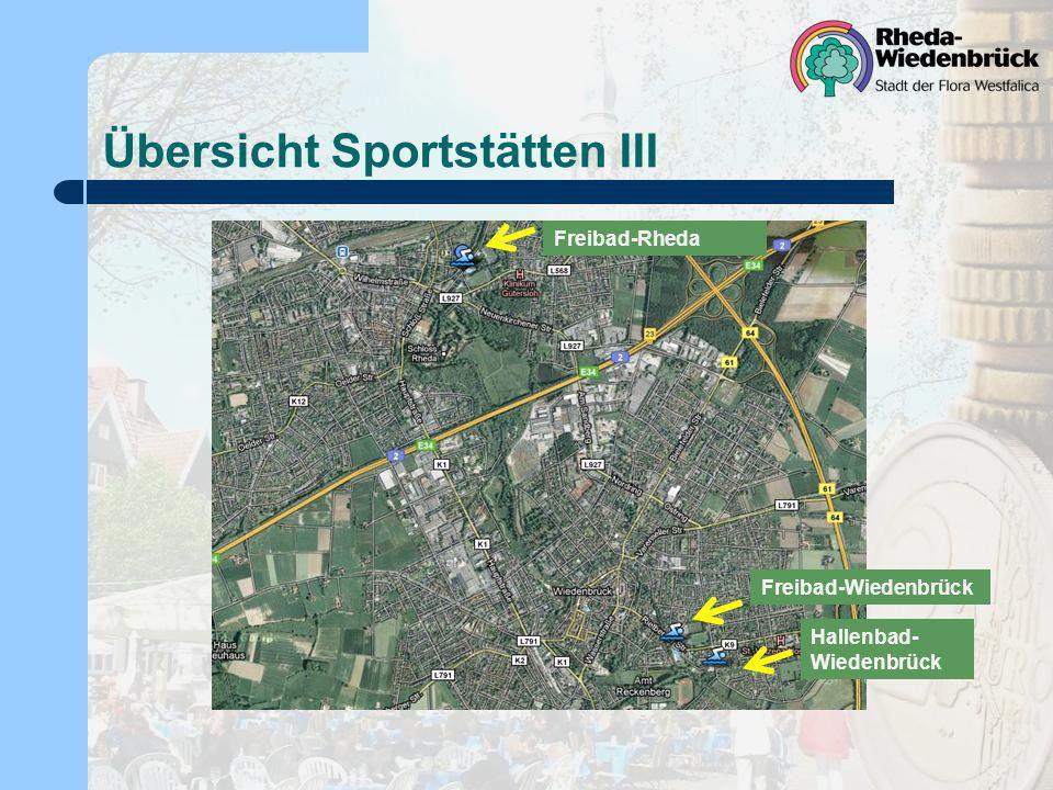 Übersicht Sportstätten III