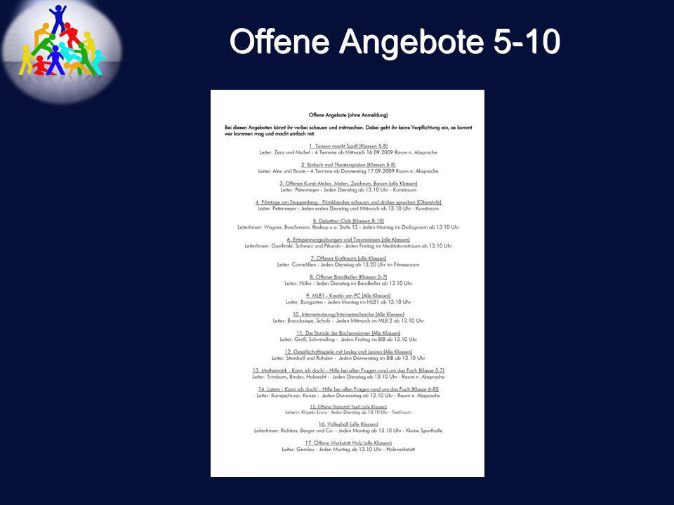Offene Angebote 5-10