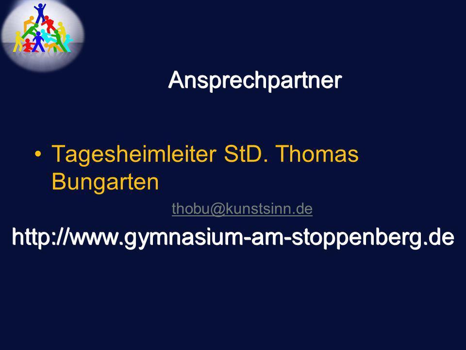 Tagesheimleiter StD. Thomas Bungarten