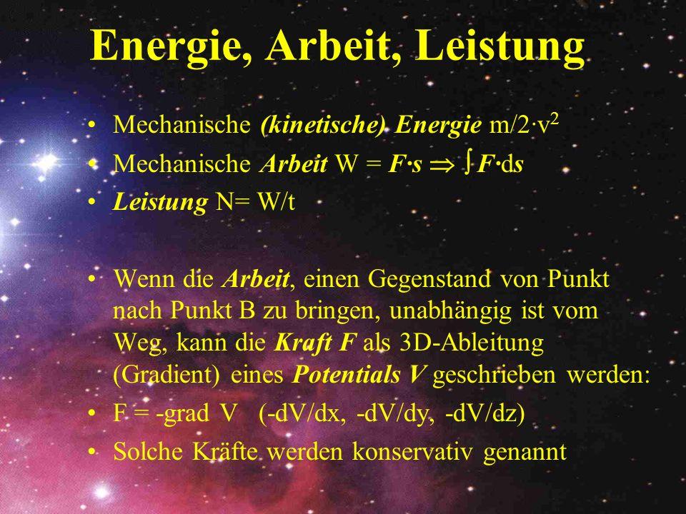 Energie, Arbeit, Leistung