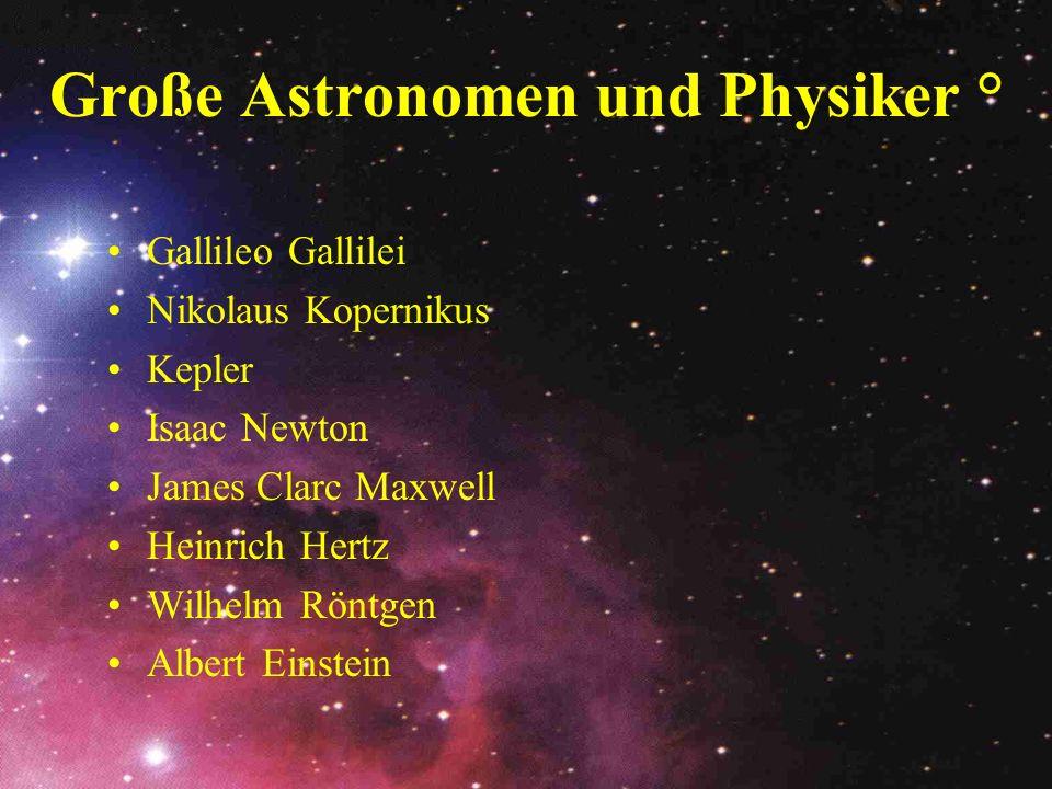 Große Astronomen und Physiker °