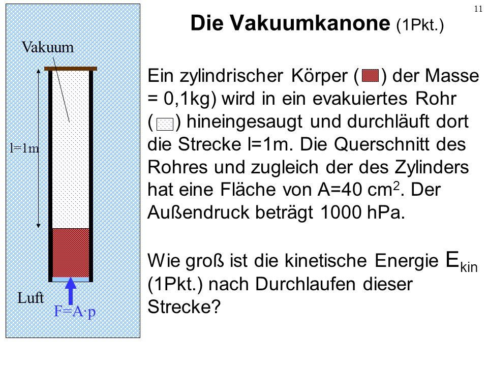 Die Vakuumkanone (1Pkt.)