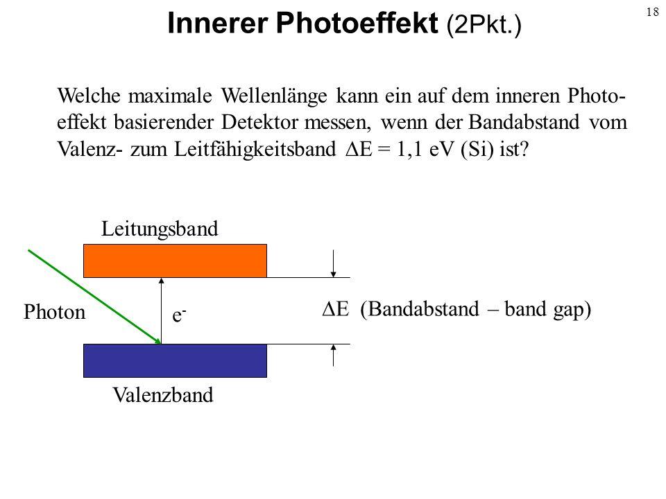 Innerer Photoeffekt (2Pkt.)