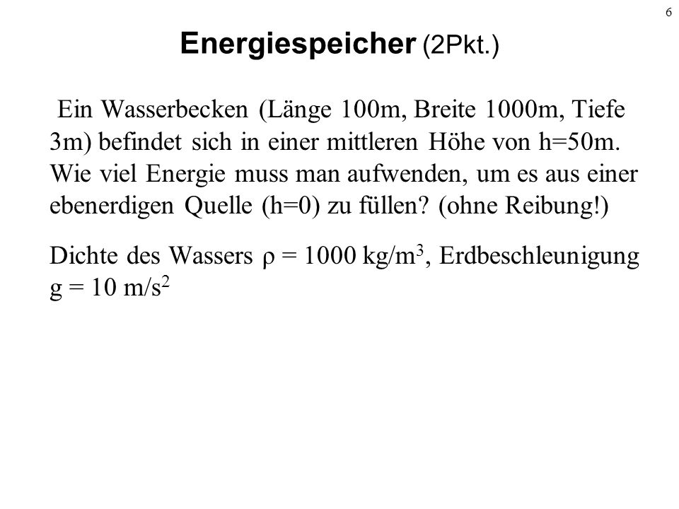 Energiespeicher (2Pkt.)
