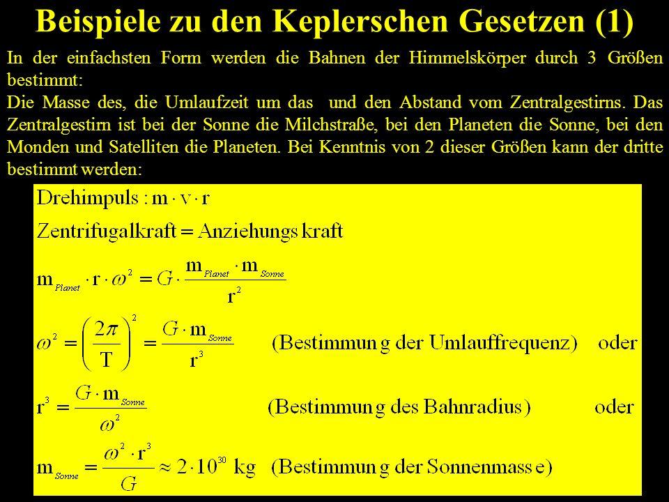 Beispiele zu den Keplerschen Gesetzen (1)