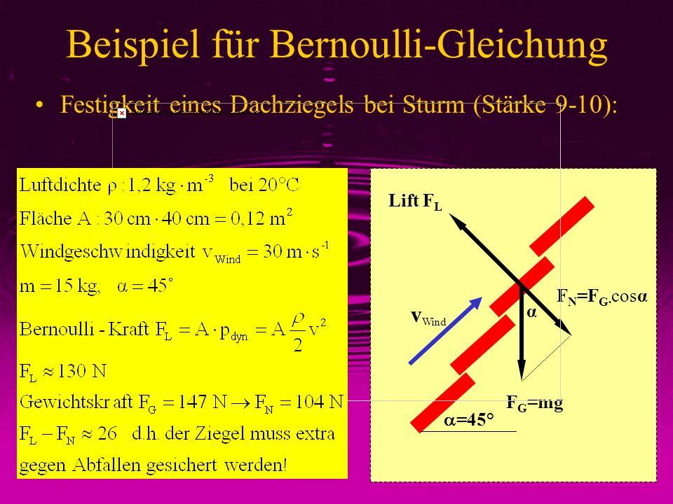 Beispiel für Bernoulli-Gleichung