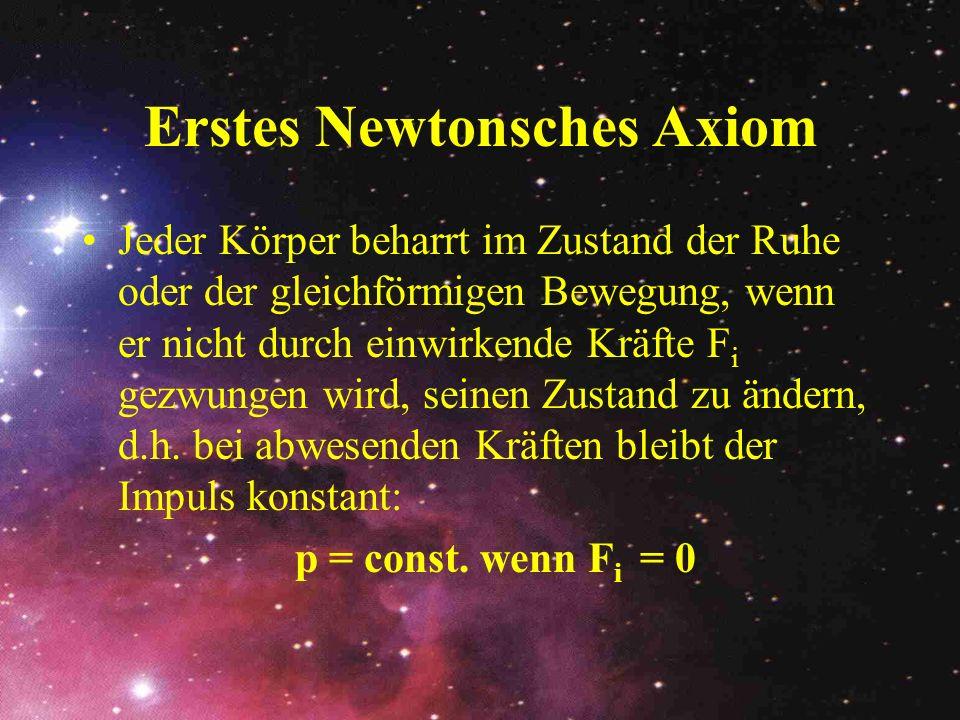 Erstes Newtonsches Axiom