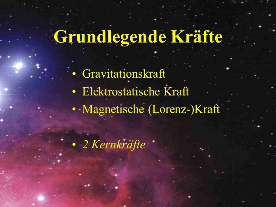 Grundlegende Kräfte Gravitationskraft Elektrostatische Kraft