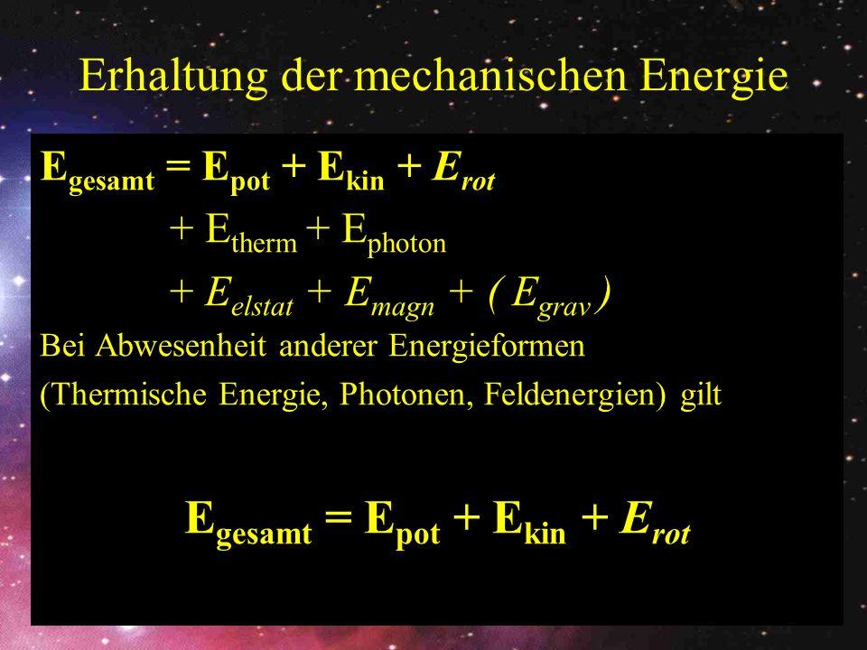 Erhaltung der mechanischen Energie