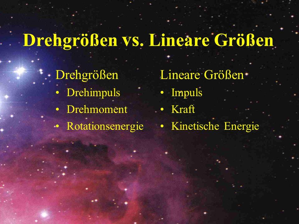 Drehgrößen vs. Lineare Größen