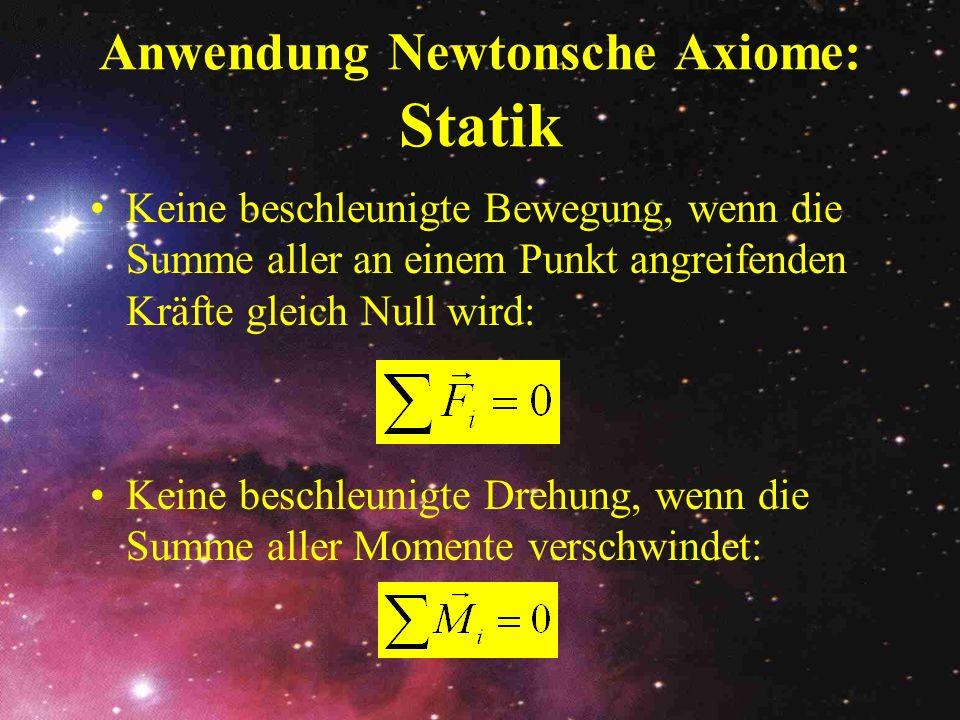 Anwendung Newtonsche Axiome: Statik