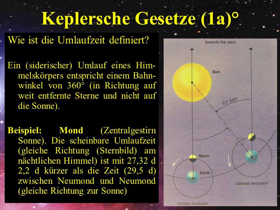 Keplersche Gesetze (1a)°