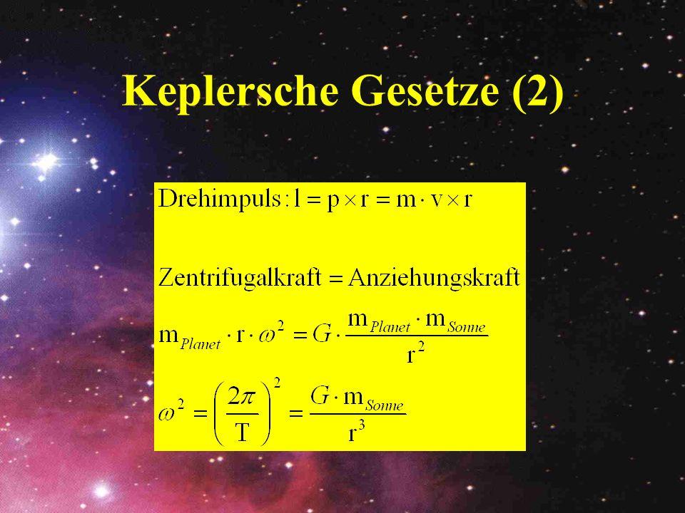 Keplersche Gesetze (2)