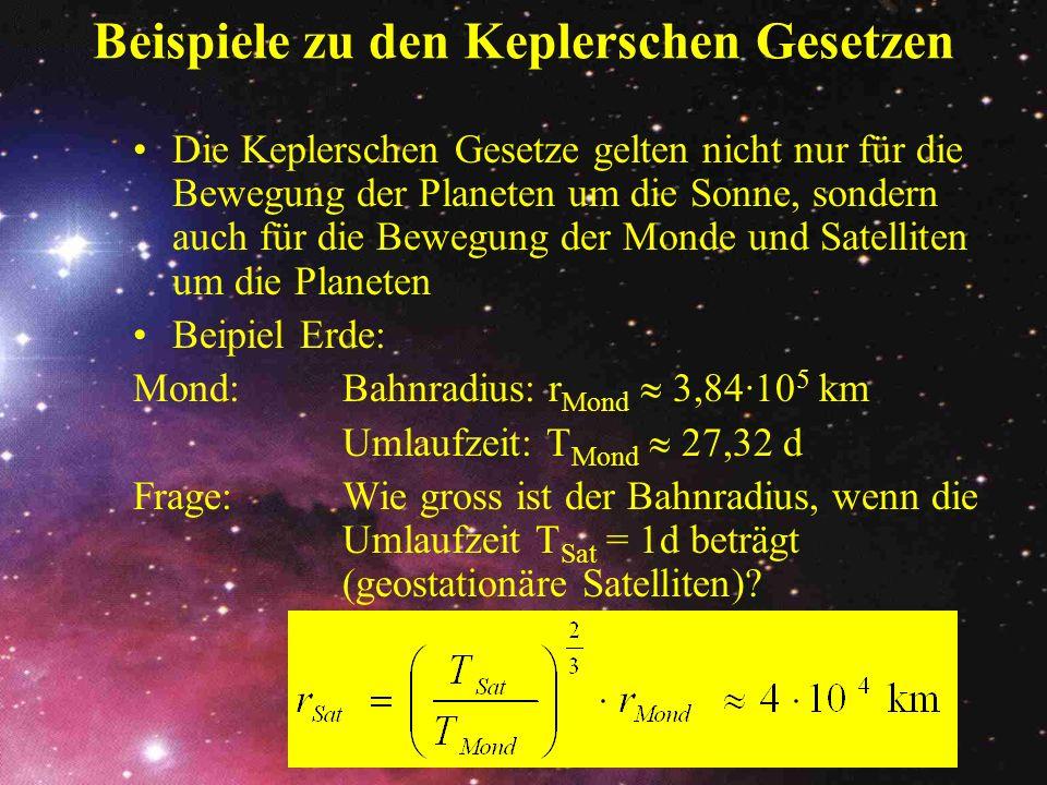 Beispiele zu den Keplerschen Gesetzen