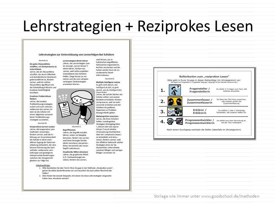 Lehrstrategien + Reziprokes Lesen