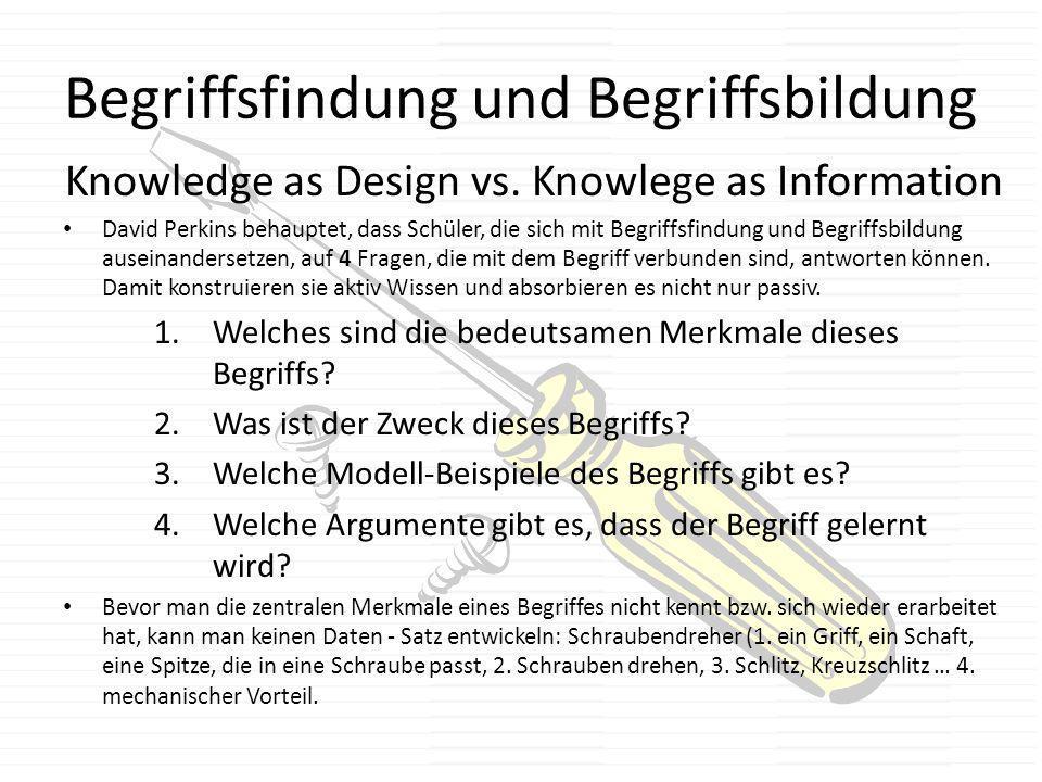 Begriffsfindung und Begriffsbildung