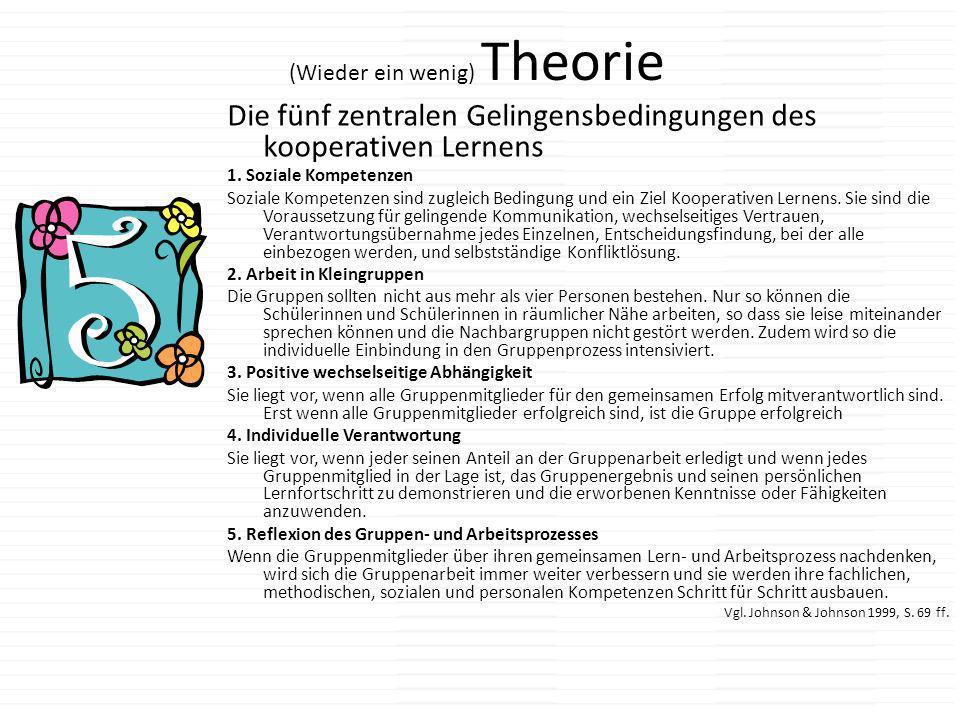 (Wieder ein wenig) Theorie