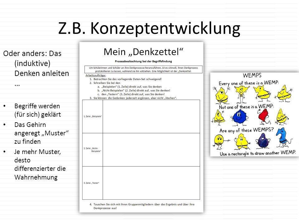 Z.B. Konzeptentwicklung