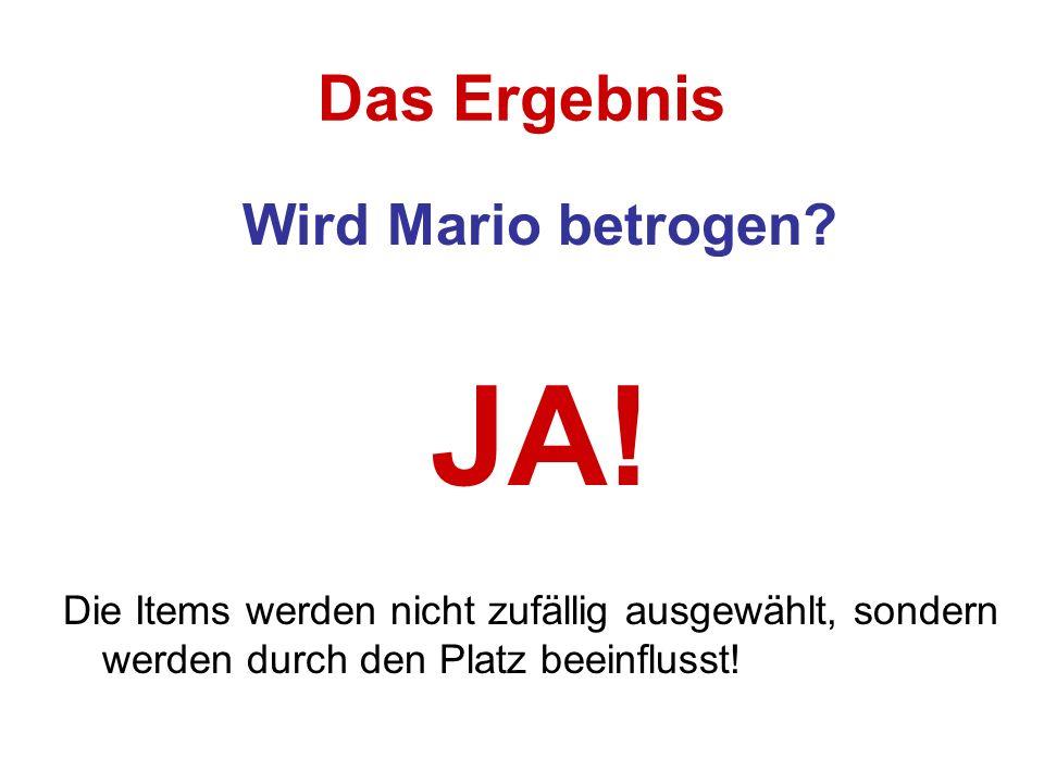 JA! Das Ergebnis Wird Mario betrogen