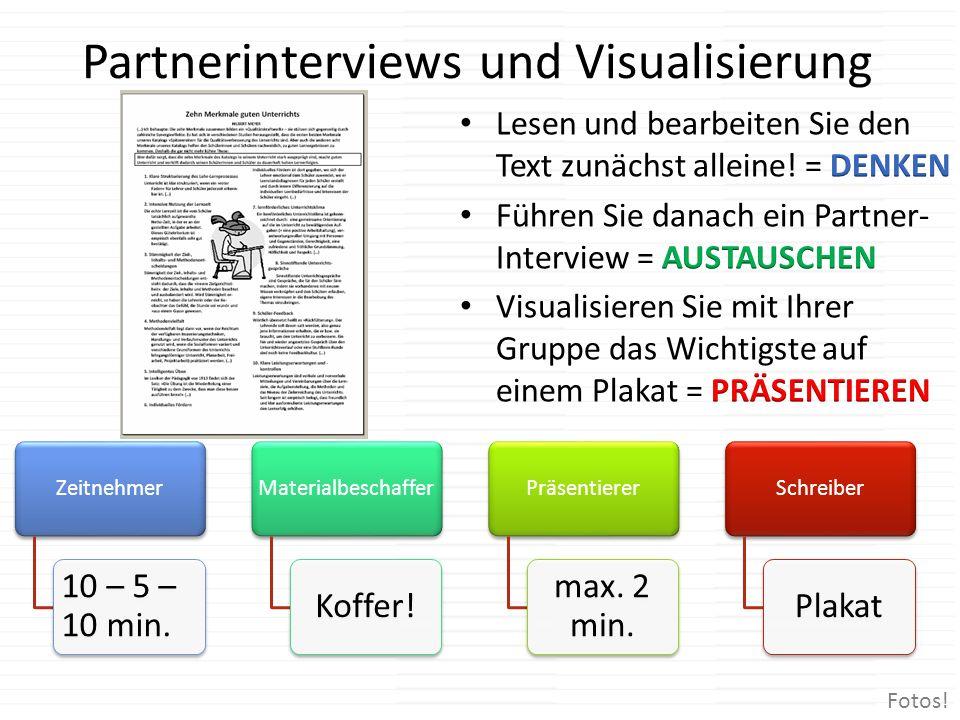 Partnerinterviews und Visualisierung