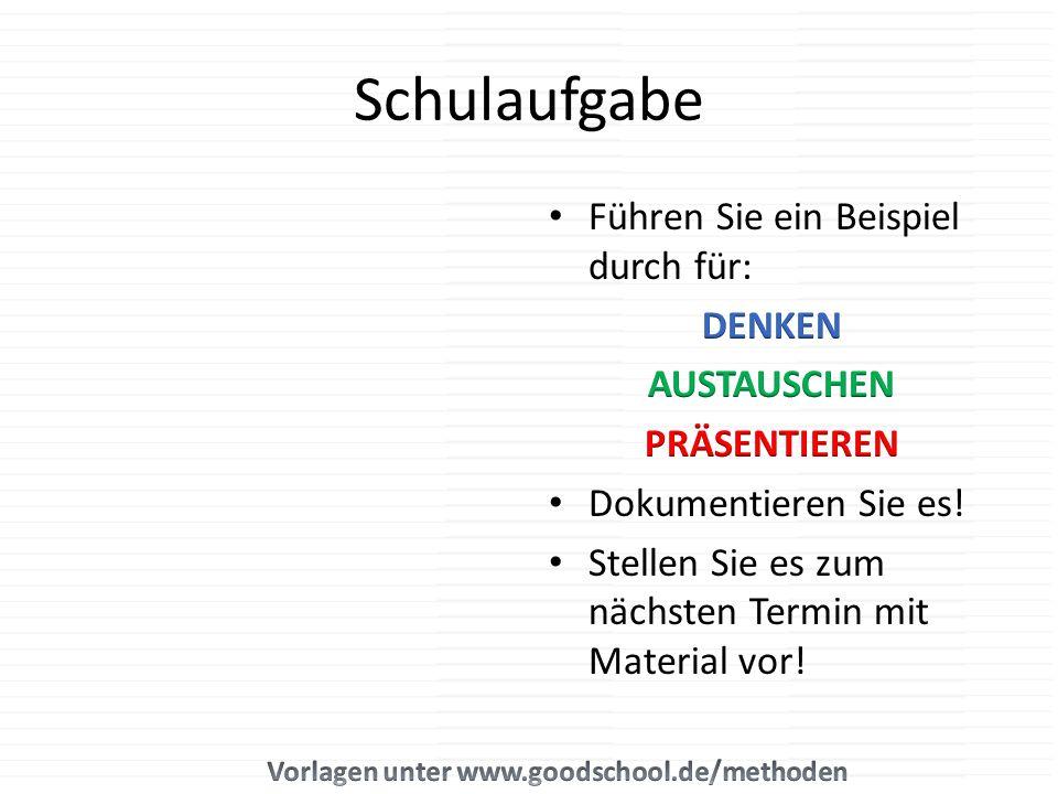 Vorlagen unter www.goodschool.de/methoden