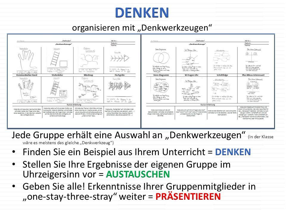 """DENKEN organisieren mit """"Denkwerkzeugen"""