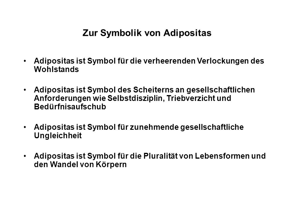 Zur Symbolik von Adipositas