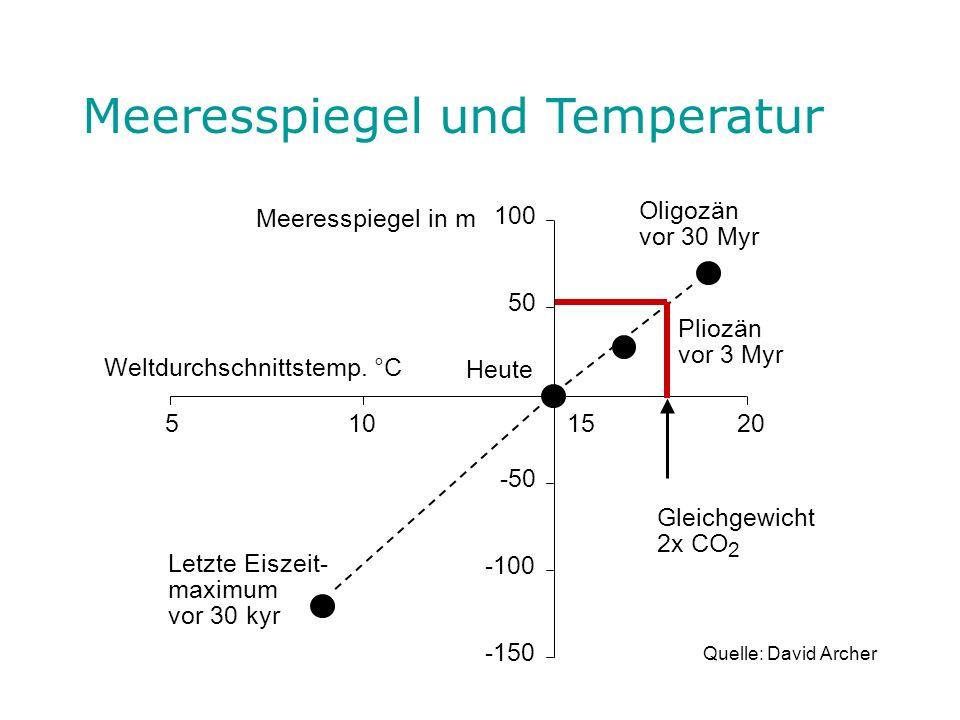 Meeresspiegel und Temperatur