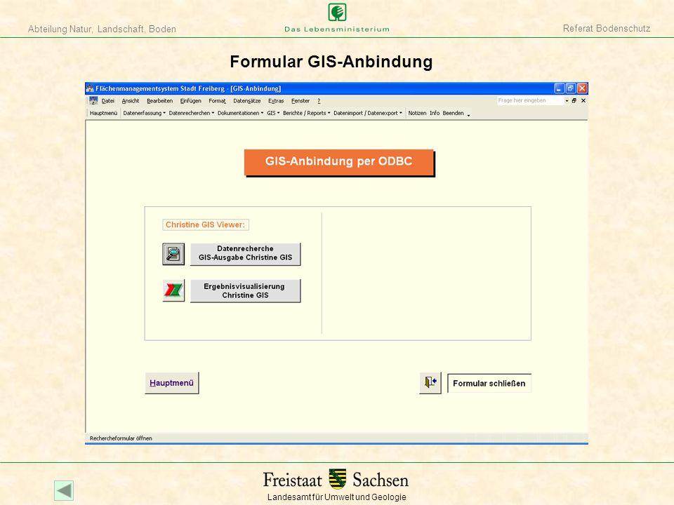 Formular GIS-Anbindung