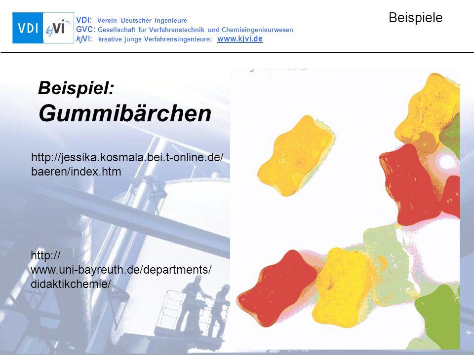 Gummibärchen Beispiel: http://jessika.kosmala.bei.t-online.de/