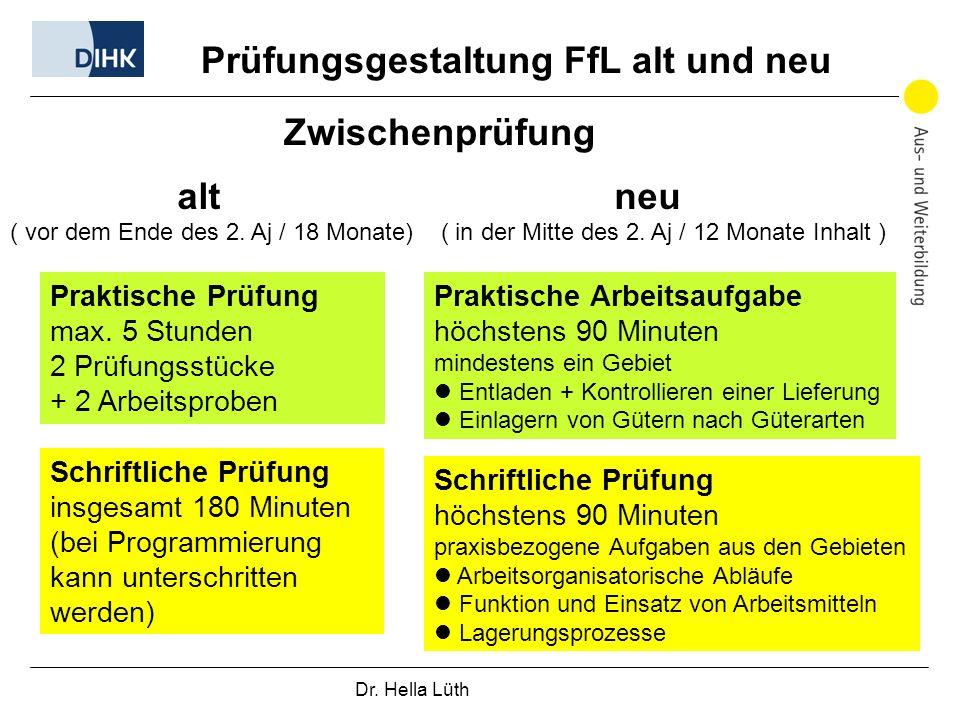 Prüfungsgestaltung FfL alt und neu
