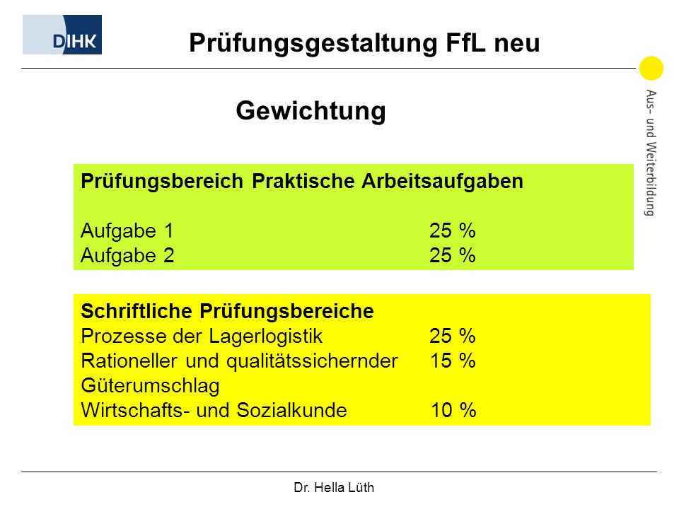 Prüfungsgestaltung FfL neu