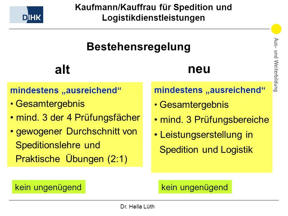 Kaufmann/Kauffrau für Spedition und Logistikdienstleistungen