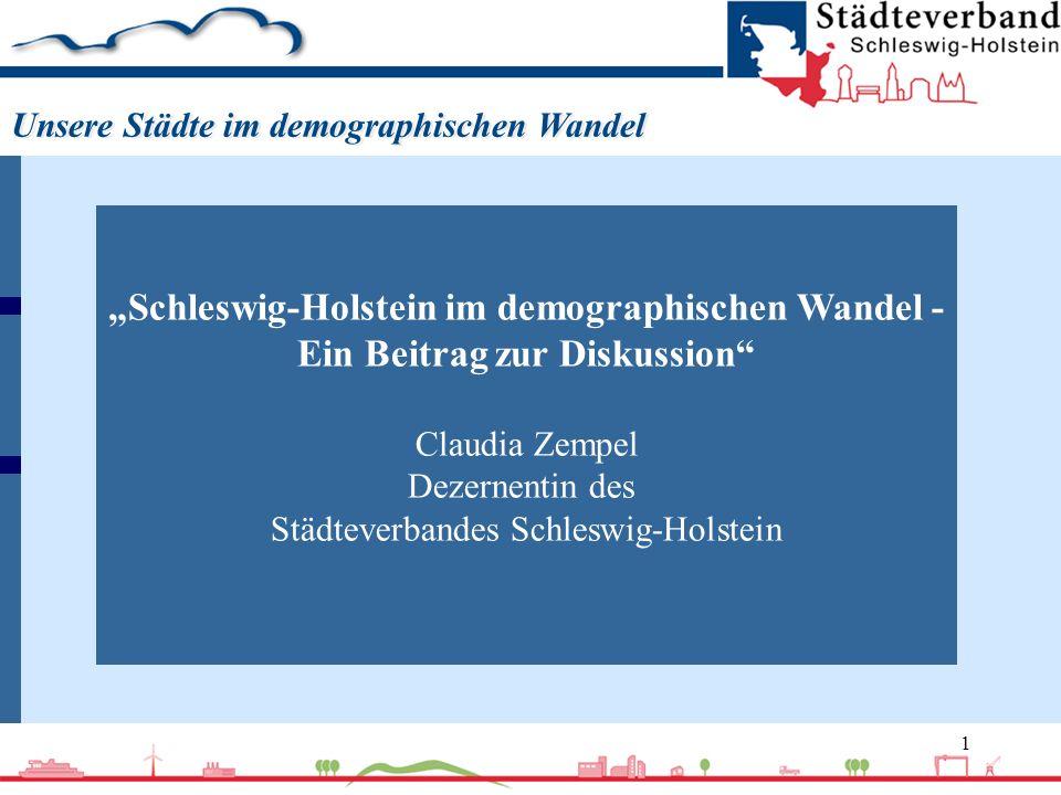 """""""Schleswig-Holstein im demographischen Wandel -"""
