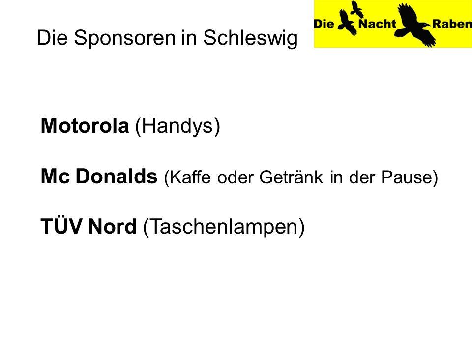 Die Sponsoren in Schleswig