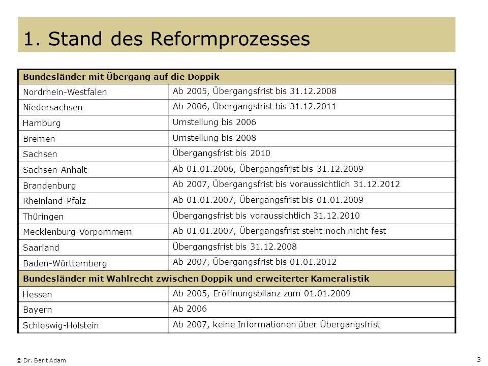 1. Stand des Reformprozesses