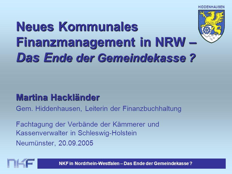 Neues Kommunales Finanzmanagement in NRW – Das Ende der Gemeindekasse