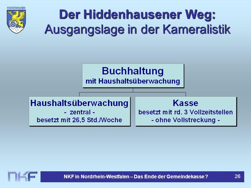 Der Hiddenhausener Weg: Ausgangslage in der Kameralistik
