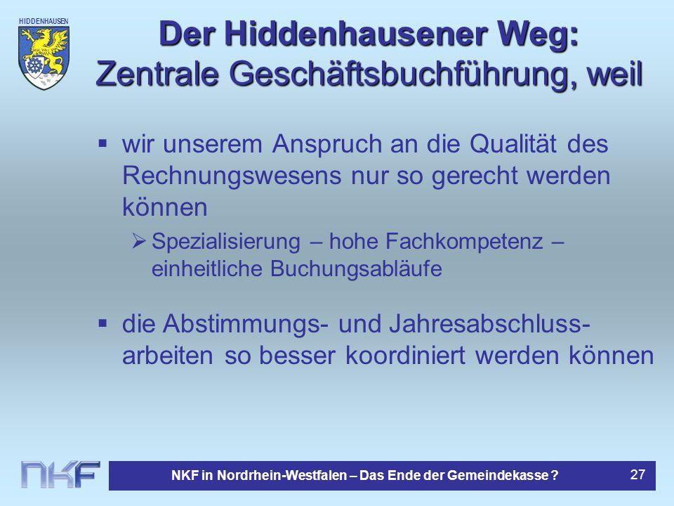 Der Hiddenhausener Weg: Zentrale Geschäftsbuchführung, weil