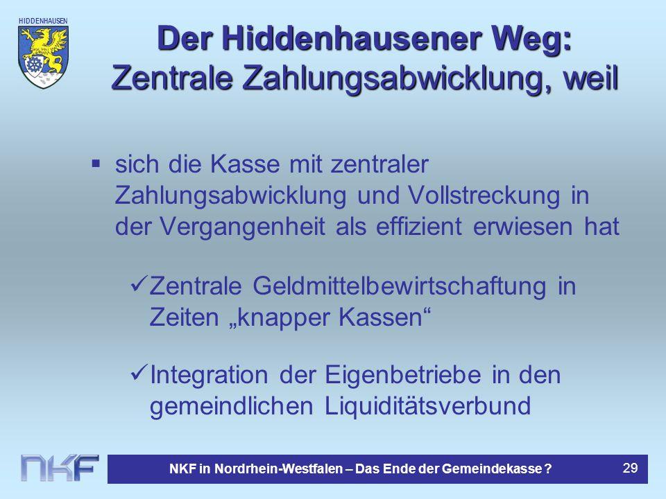 Der Hiddenhausener Weg: Zentrale Zahlungsabwicklung, weil