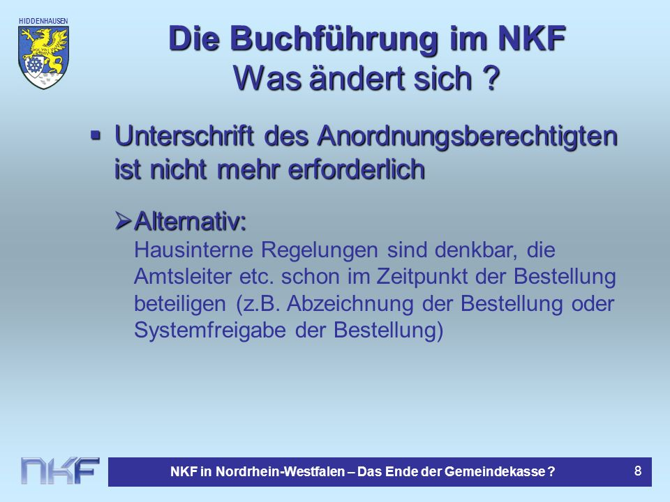 Die Buchführung im NKF Was ändert sich